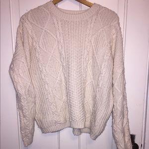 ❗️ Sale Topshop Cream Crewneck Knit Sweater